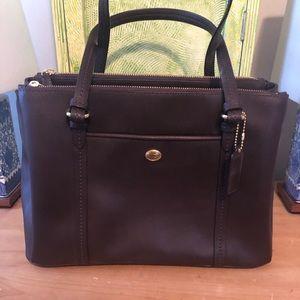 NEW Coach brown leather purse